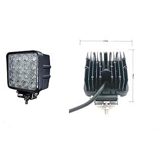 48W 16 LED Arbeitsscheinwerfer Offroad Scheinwerfer 12V 24V Baustahler ARBEITS SCHEINWERFER LADERAUM ARBEITS LAMPE 12V 24V FLUT LICHT [48WB]