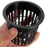kungfu Mall 10PCS plastica Nera idroponica piantare Maglia Netto Pot cesti Garden coltiva Cup