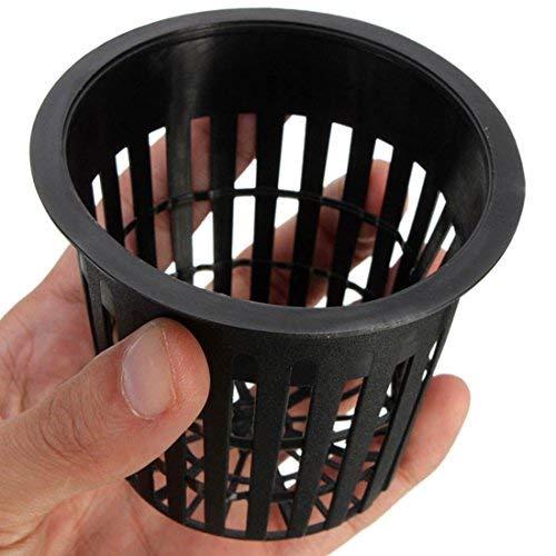 Kungfull Mall 10pcs Schwarz Blumetopf Kunststoff Mesh Netz Pot Baskets Garten Anlage Wachsen Cup (Net Platz Töpfe)