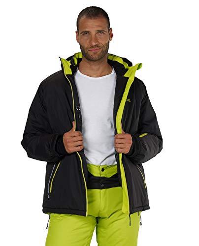 Fifty Five Skijacke Herren Schwarz 5XL Jamie Snowboardjacke Wasserdicht Atmungsaktiv