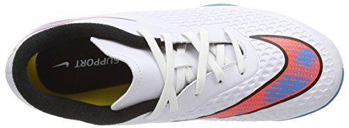 NikeJr. HYPERVENOM Phelon IC - Fußballschuhe Wettkampfschuh Unisex - bambino Bianco (Weiß (White/Bl Lagoon-Ttl Crmsn-Blk 148))