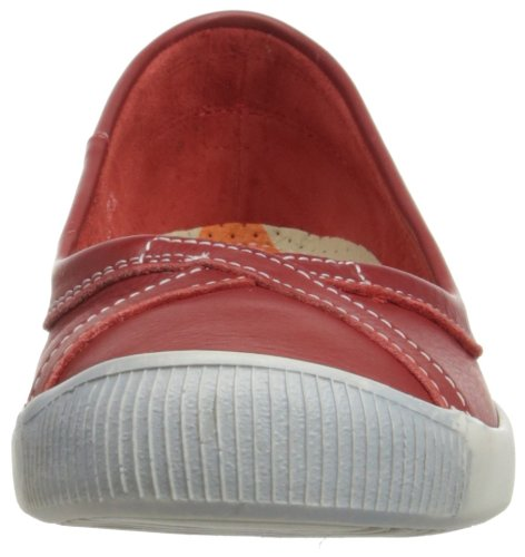 Softinos Ilma Cashmere, Ballerines Bout fermé Femme Rouge (Red 502)