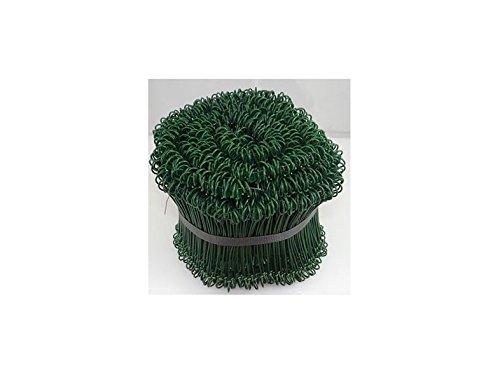 Drahtverschluss grün Verschlussdraht Drillbinder Beutelverschluss Draht, Wunschkonfiguration:1Bund(1000St.) -