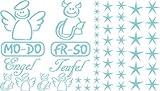 Autoaufkleber Sticker Aufkleber Set für Auto Schriftzug Engel Mo-Do Fr-So Teufe (599 pastelltürkis)