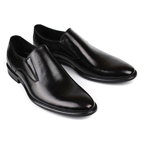 Uomini Inghilterra Scarpe Set Di Piedi Pelle Abito Affari Scarpe Da Uomo Scarpe Da Sposa Black