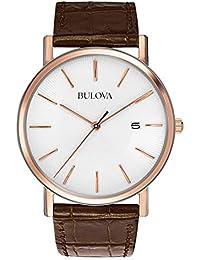 Bulova Classic 98H51 - Reloj de Pulsera de Diseño Elegante para Hombre -  Correa de Cuero 4ff64875688c
