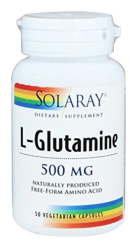 L-Glutamina 50 cápsulas de 500 mg de Solaray