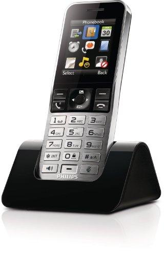Philips S9H/12 Mobilteil für S9A/38 (2.000 Kontakte Display-Größe: 5cm (2 Zoll)) schwarz/silber