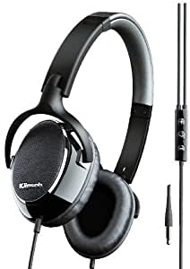 Klipsch Image One On-Ear Headphones with 3-Button Mic for iPhone/iPod - Black / Silver / Leather