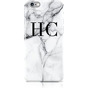 iphone 7 phone case marble initials