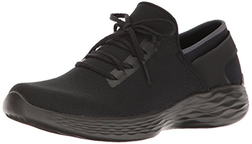 You-Inspire, Baskets Enfiler Femme, Noir (Black/White), 39.5 EU (6.5 UK)Skechers