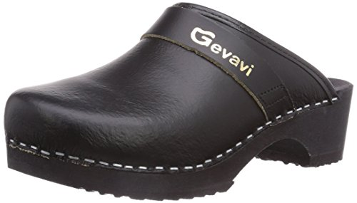 Gevavi 9200 Muil Zwart43, Sabots Adulte Mixte Noir (SchwarzZwart)
