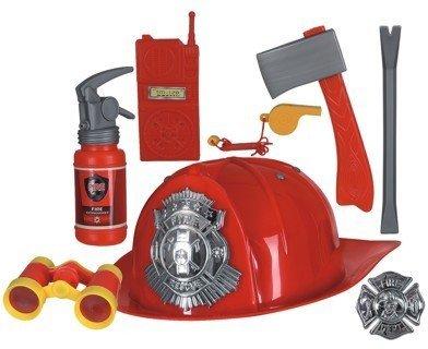 KOR47153.00 Feuerwehr-Set 8 (Feuerwehrmann Kostüme Accessoires)