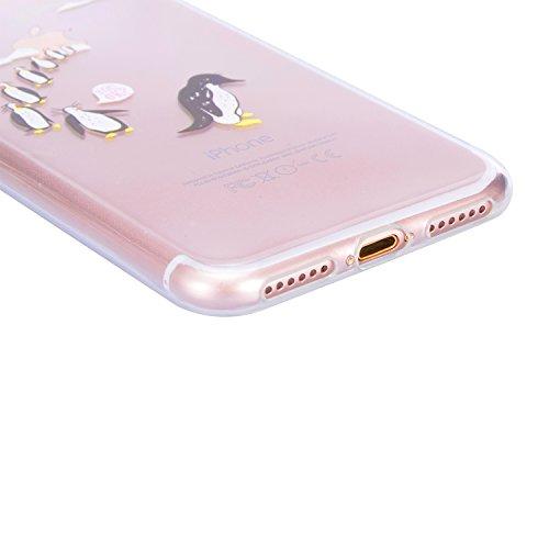 Coque iPhone 6S Plus, Sunroyal iPhone 6 Plus (5.5 pouces) Silicone Coque de Protection Transparente TPU Gel Souple Etui Housse Anti-choc Shock-Absorption Bumper Case Cover Premium Ultra-Mince Motif Im Motif 07