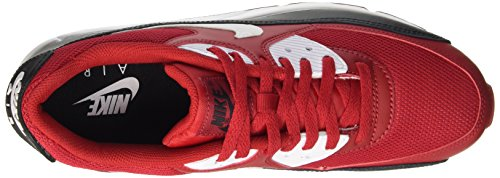 Nike Herren Air Max 90 Essential Laufschuhe, 41 EU Rot (gym Red/white-black-white)