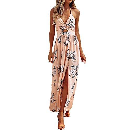 Fresofy Sommer Weisse Maxikleid Frauen Spitze Kleid Beilaeufiges Sleeveless Partei Kleid -