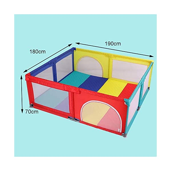 Playpens Baby, Safety Play Yard, Kids Activity Center, Indoor and Outdoor Protective Fence for Toddler/Boy/Girl Playpens  2