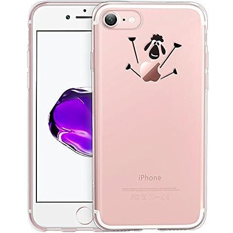 Coque iPhone 7, ESR Coque iPhone 7 Transparente Cute Motif Premium TPU Souple Etui de Protection [absorbant les chocs] [Ultra mince] [Anti-rayures] pour iPhone 7 (Little lamb)