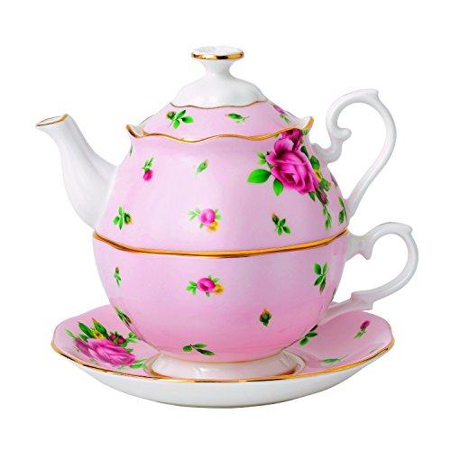 Teekanne mit einer Teetasse, Tee für eine Peron, 0,49 l Royal Albert Bone China Creamer