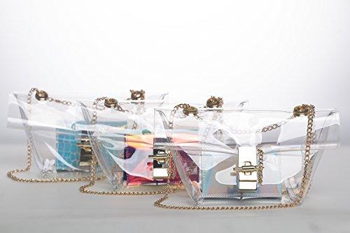 Zarapack, Borsa a spalla donna Trasparente transparente Trasparente (Transparente - Style 3)