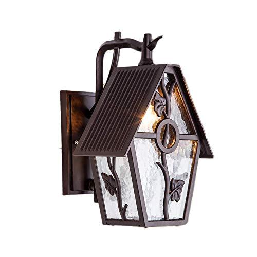 Gold-finish Klar Glas (Hai Ying ♪ IP55-Außenwandlaterne leuchtet 1-Licht-Außenwandleuchte-Lampen-Kaffee-Gold-Finish mit klarem Wasserlinie-Glas mit Saatgut dekorativer Gartenterrasse-Eingang ♪)
