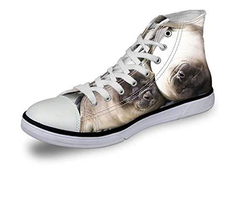 New Canvas Couple Shoes Fashion Print Hi Tops Women Men High Top Lace Up Trainer Seal CA5096AK UK 3\u002FEU36