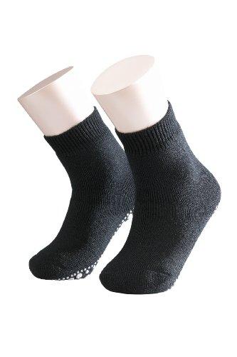 Schwarz 19 (FALKE Unisex - Kinder Socken 10500 Catspads Homesock, Gr. 19-22, Schwarz (black 3000))
