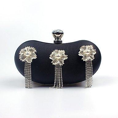 pwne L. In West Woman Fashion Luxus High-Grade Quaste Diamond Flower Abend Tasche Black