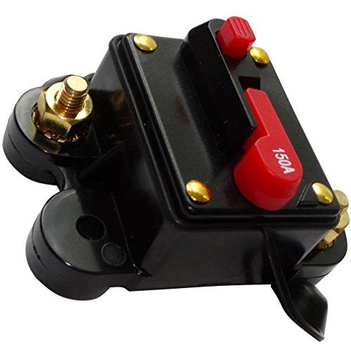 Preisvergleich Produktbild AERZETIX: 150A 12V 24V 32V 48V automatische Sicherung Brecher 78x52x37mm IP67 amp Auto Auto-Verstärker C14612