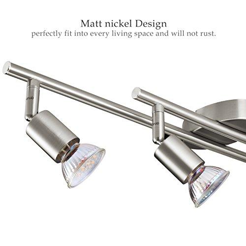 Gr4tec Lampara de Techo Luz de Techo Plafon Focos Led GU10 4x 4W Blanco Cálido para dormitorio, pasillos, salas, cocina