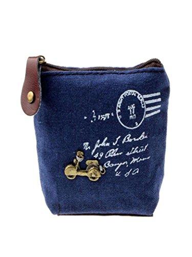 Calvin Klein Weiße Körper (QinMM Neue Frauen Dame Mädchen Retro Münztüte Geldbörse Brieftasche Karte Fall Handtasche Geschenk Kleine Körper Tasche Weiß Beige Blau Grau (Blau))