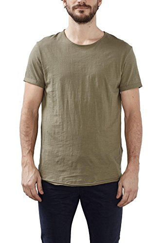 edc by ESPRIT Herren T-Shirt 027cc2k025 Grün (Khaki Green 350)