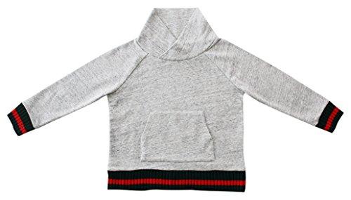 Lunares en Mayo Jungen Gucci Raya Sport Kapuzenpullover, grau, 10 Jahre