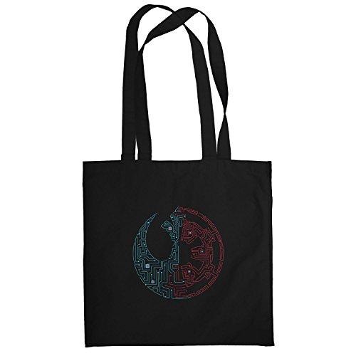 Texlab–suddivisa Galaxie–sacchetto di stoffa Nero