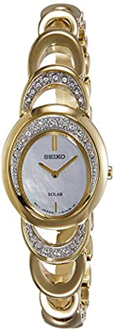 Seiko Women's Quartz Watch with Black Dial Analogue Display Quartz Stainless Steel SUP298P1