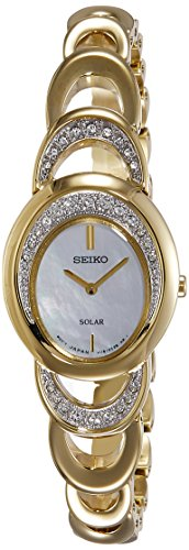 Seiko Solar Analog Mother of Pearl Dial Women's Watch - SUP298P1