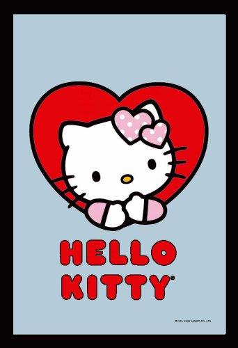 empireposter - Hello Kitty - Herz - Größe (cm), ca. 20x30 - Bedruckter Spiegel, NEU - Beschreibung: - Bedruckter Wandspiegel mit schwarzem Kunststoffrahmen in Holzoptik -