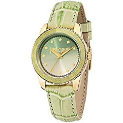 Just Cavalli Just Sunset Women's Quartz Watch with Green Dial Analogue Display and Green Leather Strap R7251202506