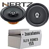 Hertz DCX 165.3-16cm Koax Lautsprecher - Einbauset für Alfa Romeo 159 - JUST SOUND best choice for caraudio