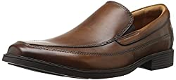 Clarks Mens Tilden Free Slip-on Loafer Dark Tan 11 W US