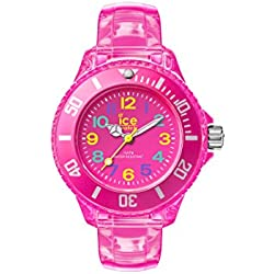 Ice Watch Ice Happy Neon Pink Children's Quartz Analogue Watch with Rose Dial and Rose PU Bracelet HA.NPK.M.U.15