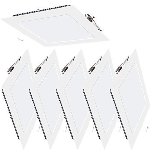 6er-Pack LED Panel Licht 4W Quadratisch Ultra Slim Flat Einbauleuchte 4000K Neutrales Licht Innenbeleuchtung für Zuhause Wohnzimmer Schlafzimmer Badezimmer Büro Flur Flureinbauleuchte