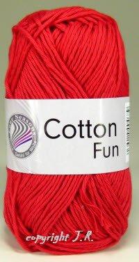 Häkelgarn Schulgarn Topflappengarn 100% Baumwolle Cotton-fun Farbe 06 rot