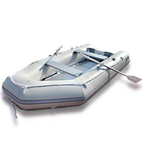 Jago Schlauchboot Motorboot Angelboot Boot - 320x151cm - Aluboden - 11kw/15PS - Set 2 Alupaddel, Tragetasche, Fußluftpumpe, Reparaturset