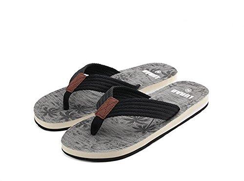 ALUK- Sandales d'été - Décontracté Antidérapant Hommes confortables Chaussons résistant à l'usure Chaussures de plage ( Couleur : Gray , taille : 40 ) Gray