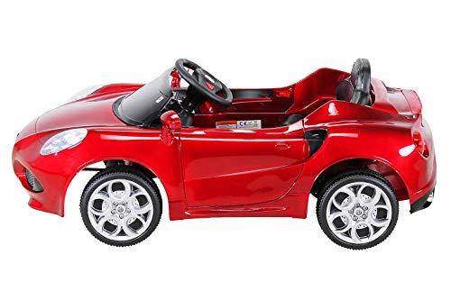 RC Auto kaufen Kinderauto Bild 3: Kinder Elektroauto ALFA Romeo 4c Lizenziert Original Kinderelektroauto Kinderfahrzeug Auto (Weinrot)*