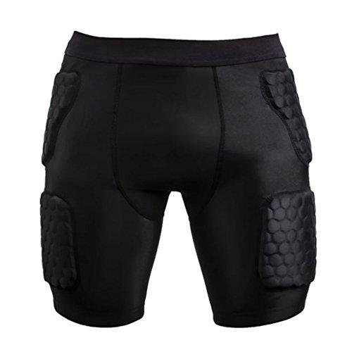 Generic Für Herren / Männer Protektorenhose Anti-Verletzung Kompression Hosen Sport Shorts Schutzhosen - M -