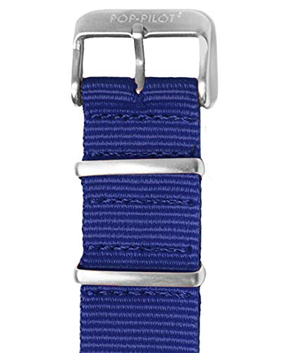 Pop Pilot Damen Stoff Uhrenarmband Dark-Blue L 20mm
