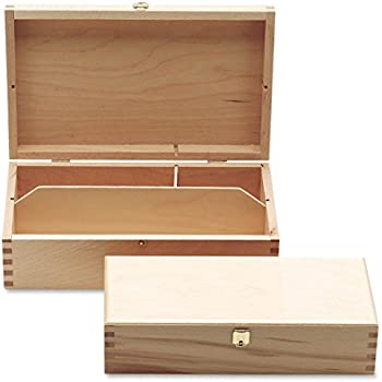 Mallette de dessin - En bois de hêtre - Taille 2 - Pour tout le matériel de dessin et de peinture