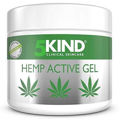Gel actif pour soulager articulations & muscles - Formule à l'huile de cannabis hautement efficace et riche en extraits naturels par 5kind. Soulage les pieds, les genoux, le dos, les épaules (300ml)